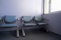 Empty seats in a waiting room at hospital, Marseille, France