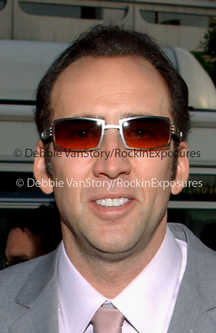 Nicolas Cage arrives at the  Premiere of Windtalkers held at Grauman's Chinese Theatre in LA, California on June 11,2002.Photo by Hollywood Press Agency