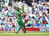 June 18th 2017, The Kia Oval, London, England;  ICC Champions Trophy Cricket Final; India versus Pakistan; Fakhar Zaman of Pakistan pulls the ball for a single