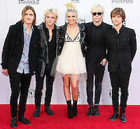 LOS ANGELES, CA, USA - NOVEMBER 23: Rocky Lynch, Ross Lynch, Rydel Lynch, Ellington Ratliff, Riker Lynch, R5 arrive at the 2014 American Music Awards held at Nokia Theatre L.A. Live on November 23, 2014 in Los Angeles, California, United States. (Photo by Xavier Collin/Celebrity Monitor)