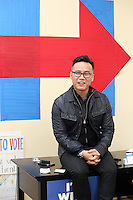 DRESHER, PA- OCTOBER 13: Actor BD Wong, known for his roles in Law & Order: Special Victims Unit, Gotham and Mr. Robot as well as Broadway performances, pictured campaigning for Hillary Clinton in the Philadelphia area at the Dresher Coordinated Campaign Office in Dresher, Pennsylvania on October 13, 2016  photo credit  Star Shooter/MediaPunch