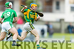 Paudie O'Connor Kilmoyley in action against David Goulding Ballyduff in the County Senior Hurling Final at Austin Stack Park on Sunday.