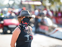 Sep 29, 2019; Madison, IL, USA; Kay Torrence, wife of NHRA top fuel driver Billy Torrence during the Midwest Nationals at World Wide Technology Raceway. Mandatory Credit: Mark J. Rebilas-USA TODAY Sports