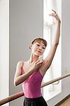 Tokyo, January 11 2013 - Portrait of Japanese ballerina Mizuka Ueno after her rehearsal at the Tokyo Ballet.