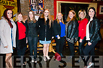 Celebrating ladies christmas at Landsdowne Hotel, Kenmare on Saturday 6th. <br /> L-R: Michelle Sweeney, Marie McCarthy, Sharon McCarthy, Niamh O'Sullivan, Lorraine McCarthy, Elaine O'Sullivan, Mairanne Wiley and Nora Mae O'Brien.