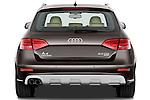 Straight rear view of a 2011 Audi A4 Allroad Quattro 2.0l TDI 5 Door Wagon