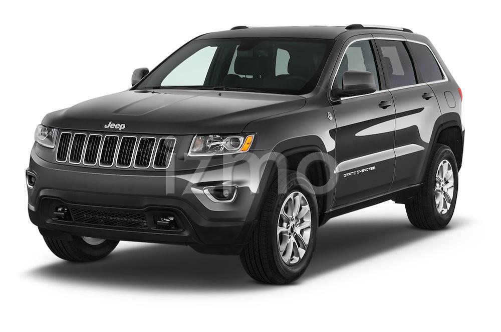 2014 JEEP Grand Cherokee Laredo 5 Door SUV Angular Front stock photos of front three quarter view