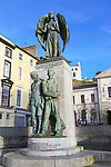 Lusitania memorial designed by Jerome Connor, Cobh, County Cork, Ireland, Irish Republic