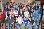 21ST BIRTHDAY FUN: Sean Crowley, Abbeydorney, (seated 4th left), had great fun celebrating his 21st birthday with family and friends in the Greyhound Bar on Saturday night.   Copyright Kerry's Eye 2008