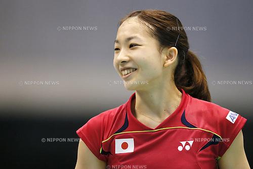 Misaki Matsutomo (JPN), June 14, 2014 - Badminton : Yonex Open Japan 2014 Women's Doubles semi final at Tokyo Metropolitan Gymnasium, Tokyo, Japan. (Photo by Yusuke Nakanishi/AFLO SPORT) [1090]