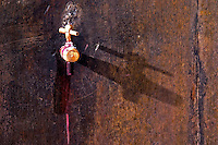 spigot on a tank domaine du vissoux beaujolais burgundy france