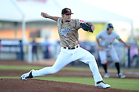 Quad Cities River Bandits starting pitcher Lance McCullers #23 delivers a pitch during a game against the Wisconsin Timber Rattlers on May 24, 2013 at Modern Woodmen Park in Davenport, Iowa.  Quad Cities defeated Wisconsin 4-3  (Mike Janes/Four Seam Images)