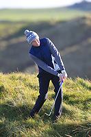 Sean Doyle (Black Bush) on the 11th during Round 3 of the Ulster Boys Championship at Royal Portrush Golf Club, Valley Links, Portrush, Co. Antrim on Thursday 1st Nov 2018.<br /> Picture:  Thos Caffrey / www.golffile.ie<br /> <br /> All photo usage must carry mandatory copyright credit (&copy; Golffile | Thos Caffrey)