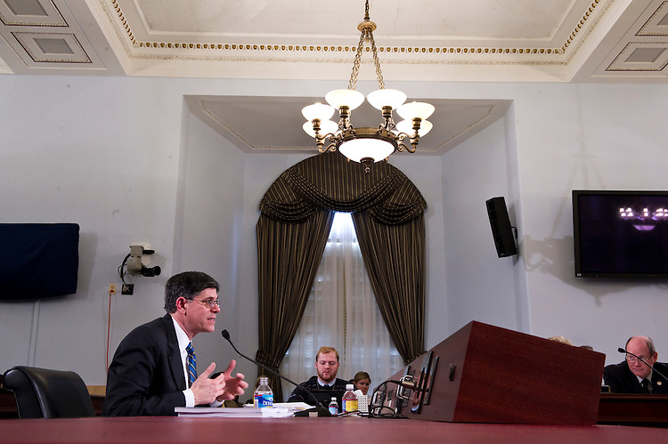WASHINGTON, DC- Feb. 15: Jacob J. Lew, director of the Office of Management and Budget (OMB) during the House Budget hearing on President Obama's proposed fiscal 2012 budget. (Photo by Scott J. Ferrell/Congressional Quarterly)