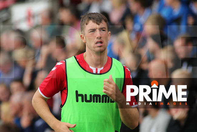Chris Long of Fleetwood Town warming up during the Sky Bet League 1 match between Fleetwood Town and Rochdale at Highbury Stadium, Fleetwood, England on 18 August 2018. Photo by Stephen Gaunt / PRiME Media Images.