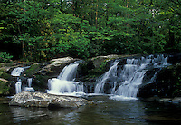AJ1775, waterfall, North Carolina, Appalachian Mountains, Slickrock Falls in Slickrock Wilderness.