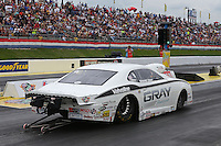 May 11, 2013; Commerce, GA, USA: NHRA pro stock driver Shane Gray during the Southern Nationals at Atlanta Dragway. Mandatory Credit: Mark J. Rebilas-