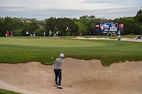 Billy Horschel (USA) hits from the trap on 14 during Round 2 of the Valero Texas Open, AT&T Oaks Course, TPC San Antonio, San Antonio, Texas, USA. 4/20/2018.<br /> Picture: Golffile | Ken Murray<br /> <br /> <br /> All photo usage must carry mandatory copyright credit (© Golffile | Ken Murray)