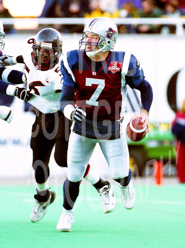 Matt Lytle Montreal Alouettes 2002. Photo John Bradley
