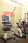 "Tools, including a computer that measures oxygen uptake, used by institute physicians to assess patients' statuses in the Las Vegas, Nevada office of Cenegenics, seen April 4, 2011.  Cenegenics Medical Institute offers aging patients ""age management"" techniques through a thorough medical assessment and hormonal supplements. ."