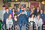 Joanne Henderson shaves Dean Slattery's hair at the her Shave or Dye night in aid of the Irish Cancer Society in Killarney Country Club, Faha on Friday night front row l-r: Tara Coffey, Louide Daly, Caroline Kelleher, Chloe Murphy. Back row: Kealan McGillicuddy, Ian Courtney, Mike McSweeney, Sasha Edwards, Stephanie McSweeney, Mathew Ahern, Damian Clifford, Derry Ahern, Zara Kennedy, Alannah O'Connor, Eoin Darmody, Teresa Daly and Aidan O'Donoghue