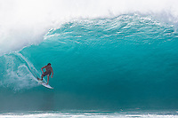 BRUCE IRONS (HAW) surfing at the Banzai Pipeline, North Shore of Oahu, Hawaii. Photo: joliphotos.com
