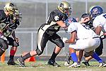 Palos Verdes, CA 10/20/11 - Mark Pilato (Peninsula #71) in action during the Leuzinger vs Peninsula JV football game.