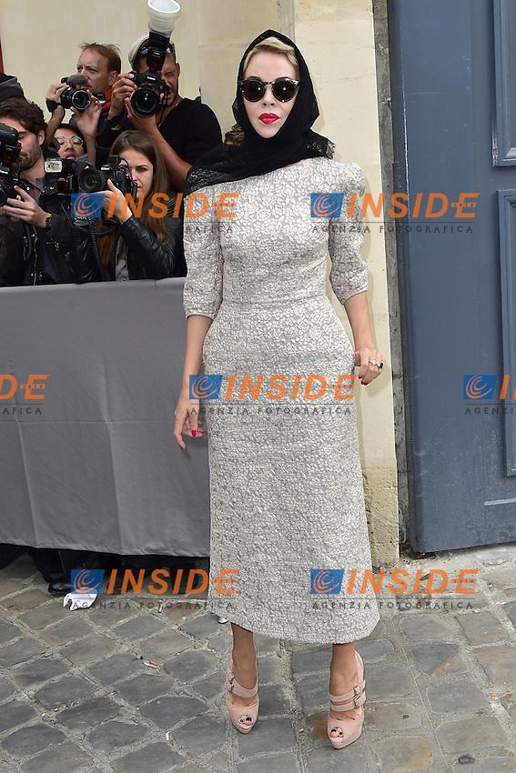 Ulyana Sergeenko <br /> Dior fashion show arrivals - Paris - 30/09/2016