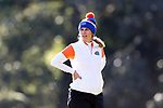 WILMINGTON, NC - OCTOBER 27: Florida head coach Emily Bastel Glaser. The first round of the Landfall Tradition Women's Golf Tournament was held on October 27, 2017 at the Pete Dye Course at the Country Club of Landfall in Wilmington, NC.