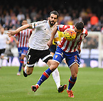 Valencia CF's  Alvaro Negredo  and Sporting de Gijon's Luis Hernandez  during La Liga match. January 31, 2016. (ALTERPHOTOS/Javier Comos)