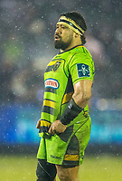 Northampton Saints' Campese Ma'afu <br /> <br /> Photographer Bob Bradford/CameraSport<br /> <br /> Anglo-Welsh Cup Semi Final - Bath Rugby v  Northampton Saints - Friday 9th March 2018 - The Recreation Ground - Bath<br /> <br /> World Copyright &copy; 2018 CameraSport. All rights reserved. 43 Linden Ave. Countesthorpe. Leicester. England. LE8 5PG - Tel: +44 (0) 116 277 4147 - admin@camerasport.com - www.camerasport.com