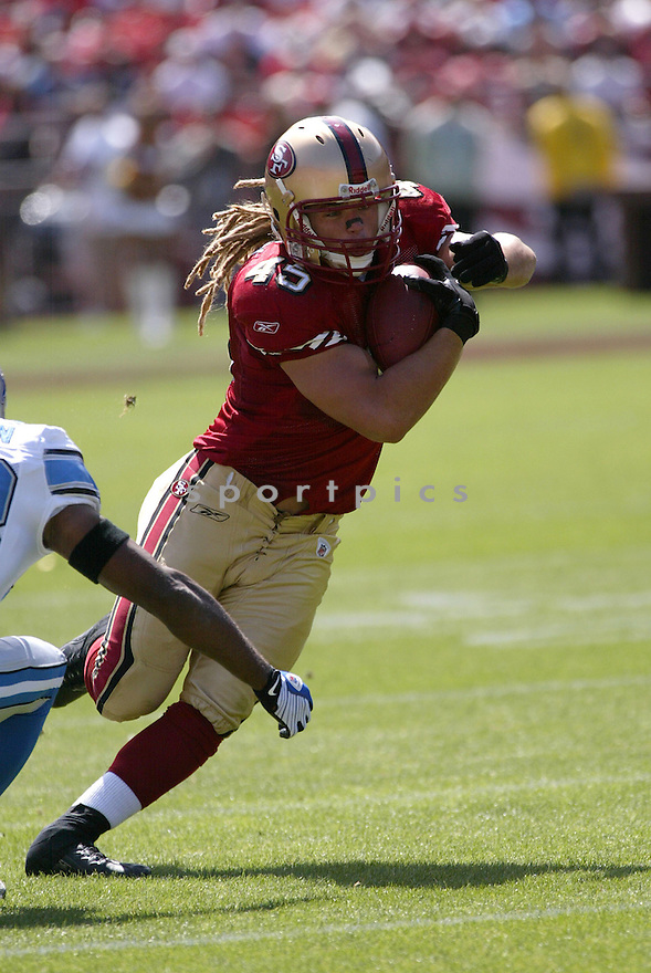 ZAK KEASEY, of the San Francisco 49ers, in action during the  49ers game against the  Detroit Lions  on September 21, 2008 in San Francisco, California...The San Francisco 49ers win 31-13
