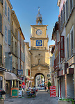 The clock tower at the entrance to the old section of Salon-de-Provence, Provence, France