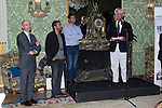 12.09,2012. . Tribute to the French Embassy in Madrid to Eric Toledano and Olivier Nakache, movie directors ' Intouchables'. In the image (2L-R)  Eric Toledano, Olivier Nakache and Bruno Delaye (Ambassador of France). (Alterphotos/Marta Gonzalez)