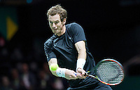 Februari 13, 2015, Netherlands, Rotterdam, Ahoy, ABN AMRO World Tennis Tournament, Andy Murray (GBR)<br /> Photo: Tennisimages/Henk Koster