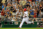 11 July 2008: Washington Nationals' infielder Ronnie Belliard rounds the bases after hitting his 100th career home run in the fifth inning against the Houston Astros at Nationals Park in Washington, DC. The Nationals shut out the Astros 10-0 in the first game of their 3-game series...Mandatory Photo Credit: Ed Wolfstein Photo