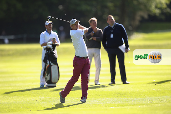 Justin Rose (ENG) during the Pro-Am ahead of the 2015 BMW PGA Championship over the West Course at Wentworth, Virginia Water, London. Picture David lloyd, www.golffile.ie: 20/05/2015