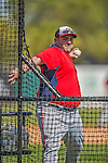 7 March 2013: Washington Nationals coach Ali Modami tosses batting practice prior to a Spring Training game against the Houston Astros at Osceola County Stadium in Kissimmee, Florida. The Astros defeated the Nationals 4-2 in Grapefruit League play. Mandatory Credit: Ed Wolfstein Photo *** RAW (NEF) Image File Available ***