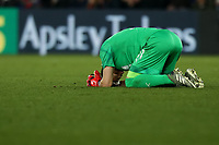 23rd November 2019; Selhurst Park, London, England; English Premier League Football, Crystal Palace versus Liverpool; A dejected Vicente Guaita of Crystal Palace - Strictly Editorial Use Only. No use with unauthorized audio, video, data, fixture lists, club/league logos or 'live' services. Online in-match use limited to 120 images, no video emulation. No use in betting, games or single club/league/player publications