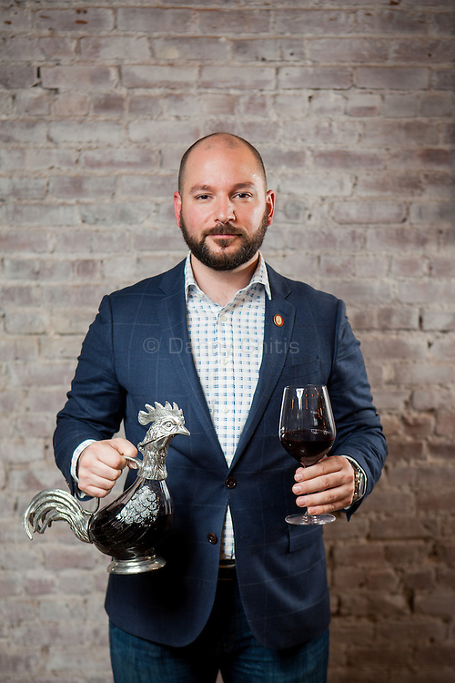 Sommelier Alexander LaPratt at Beast & Bottles in Brooklyn Heights. <br /> <br /> Danny Ghitis for The New York Times