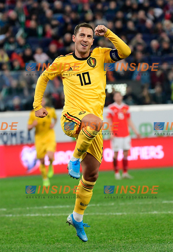Eden Hazard midfielder of Belgium  <br /> Saint Petersbourg  - Qualification Euro 2020 - 16/11/2019 <br /> Russia - Belgium <br /> Foto Photonews/Panoramic/Insidefoto <br /> ITALY ONLY