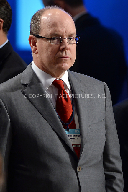 WWW.ACEPIXS.COM<br /> September 22, 2014 New York City<br /> <br /> Prince Albert of Monaco during the Clinton Global Initiative on September 22, 2014 in New York City.<br /> <br /> <br /> By Line: Kristin Callahan/ACE Pictures<br /> ACE Pictures, Inc.<br /> tel: 646 769 0430<br /> Email: info@acepixs.com<br /> www.acepixs.com