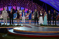 Washington, DC - May 24, 2014: The entire cast of the National Memorial Day Concert perform the finale during a rehearsal May 24, 2014.  (Photo by Don Baxter/Media Images International)