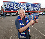 Author Jeff Holmes with his new Rangers book