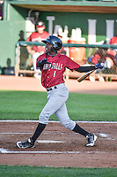 D.J. Burt (1) of the Idaho Falls Chukars at bat against the Ogden Raptors in Pioneer League action at Lindquist Field on June 22, 2015 in Ogden, Utah. The Chukars defeated the Raptors 4-3 in 11 innings. (Stephen Smith/Four Seam Images)