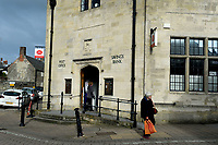 BNPS.co.uk (01202 558833)<br /> Pic: BNPS<br /> <br /> Pictured:  The Post Office pictured today where 'Short Coach builders' store once was.<br /> <br /> <br /> These charming photos reveal everyday life at the turn of the 20th century in a thriving market town later made famous by a TV advert.<br /> <br /> The black and white snapshots of Shaftesbury, Dorset, were taken by Albert Tyler who set up a photography business there in 1901.<br /> <br /> There are various street scenes and also images of the locals in traditional attire, with men in flatcaps and women in bonnets.<br /> <br /> Tyler photographed the busy opening of the town market in 1902, and a garden party where men played croquet.