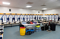 A general view in the away dressing rooms. Gallagher Premiership match, between Exeter Chiefs and Bath Rugby on March 24, 2019 at Sandy Park in Exeter, England. Photo by: Patrick Khachfe / Onside Images