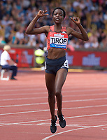 Agnes Jebet Tirop winner of the Women's 3000m during the Muller Grand Prix  IAAF Diamond League meeting at Alexander Stadium, Perry Barr, Birmingham.<br /> Picture by Alan Stanford +44 7915 056117<br /> 18/08/2018