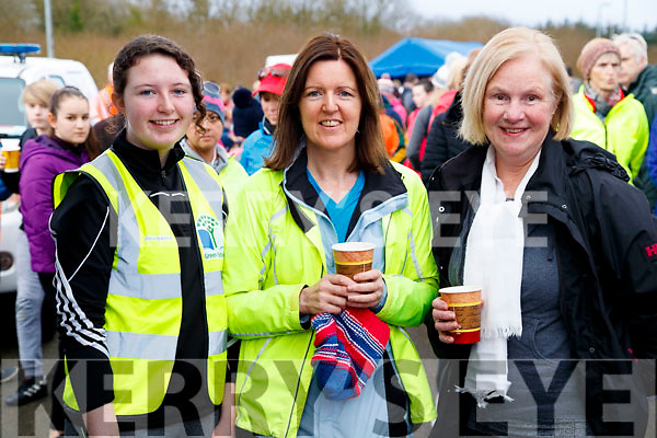 Maeve Lynch, Maura Lynch and Eileen McSparron, pictured at the Operation Transformation Walk at Tralee Bay Wetlands on Saturday morning last.