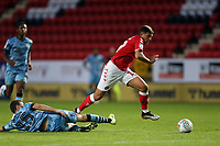 Albie Morgan of Charlton Athletic avoids a tackle from James Morton of Forest Green Rovers during Charlton Athletic vs Forest Green Rovers, Caraboa Cup Football at The Valley on 13th August 2019